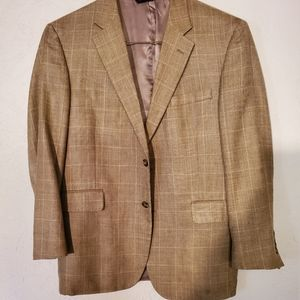 Mens jos a bank blazer sz 42 reg silk/wool